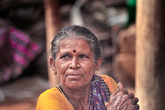 Close up on Indian ethnicity aged woman (Nithi clicks) Tags: color india