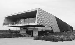 Weingut (Gabor Sandor) Tags: black white architecture outdoor building wood concrete austria minimal wein cellar sky glass
