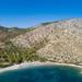 Aerial view of St Nikolaos Beach Hydra
