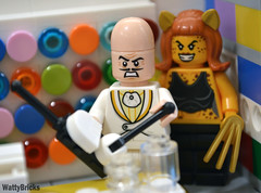 Egghead & Cheetah (WattyBricks) Tags: lego dc comics superheroes king egghead cheetah store 40145