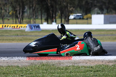 Get Low Partner (1/3) (Jungle Jack Movements (ferroequinologist)) Tags: winton raceway sidecar f1 f2 motor bike motorcycle vic victoria passenger pillion rider brothers boys racing race alvin suzuki gxs yamaha yzf lcr pass speed car cars hottie track practice pole position times timing hard competition competitive event saloon sports racer driver mechanic engine oil petrol build fast faster fastest grid circuit drive helmet marshal starter sponsor number class motorsport classic road honda shellbourne watson judd spanknebel goodale terry goldie jamie crass cbr japan japanese