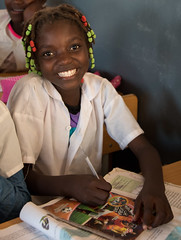 (mariolasobol) Tags: education africa angola school smile girl kids children africanchildren educationforall portrait humble learn newschool