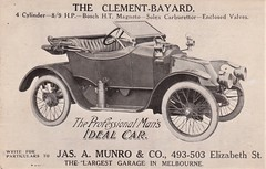 The Clement-Bayard automobile - circa 1914 (Aussie~mobs) Tags: clementbayard automobile melbourne victoria vintage australia car vehicle 1914 advertisement advertisingpostcard jasamunroco elizabethstreet aussiemobs