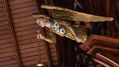Herald Angel (Gene Mordaunt) Tags: angel chapel royalstgeorgescollege herald carving church trumpet chapelofstalbanthemartyr toronto ontario nikon810