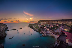Anchor Bay (glank27) Tags: malta popeye village anchor bay mediterranean sea clear water film movie set cinema sunset long exposure karl glanville canon eos 5d mark iv ef1636mm f4l is usm photography landscape sky