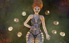 ♚ Look #592 ♚ (Caity Saint) Tags: secretposes sl tableauvivant scandalize gacha hunt darkness fair event catwa maitreya secondlife pixels