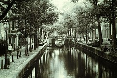 Amsterdam (Alizarin Krimson) Tags: reflection reflections water architecture bridge boats blackandwhite blackwhite bnw canal