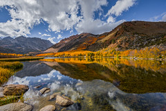 North Lake and Clouds Fall Reflection (Jeffrey Sullivan) Tags: north lake morning light eastern sierra fall colors aspen trees landscape nature travel photography bishop california usa canon 5d mark iv photo copyright 2018 jeff sullivan october reflection clouds