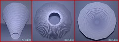 Conical Cylinder Origami Collapsible In Levels Based On Dodecagon (5/5) (NeoSpica / NeoLiveArt) Tags: origami paper fold folding folded conical lampshade pleating pleat pleated corrugation tessellations collapsible structure design cone papercraft handmade cylinder dodecagon levels tube geometric art