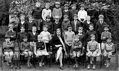 Class photo (theirhistory) Tags: boy child kid teacher school class form group pupils students jacket jumper trousers shoes wellies boots shorts