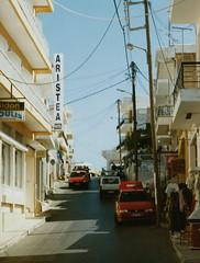Elounda (J_Piks) Tags: 1998 greece ellada kriti crete road street telegraphpoles elounda