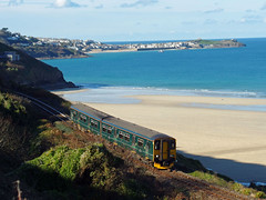 150265 Porthkidney Sands (Marky7890) Tags: gwr 150263 class150 sprinter 2a24 porthkidneysands railway cornwall stivesbayline train
