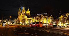 Amsterdam. (alamsterdam) Tags: amsterdam evening longexposure prinshendrikkade edited hotel stnicolaschurch traffic buses