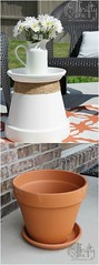 Repurposed Terracotta Pot Into Accent Table: Ive been in the need of some sturdy accent tables for my porch and patio and found just the thing to do the trick! Plus, repurposing is always fun :) I had a few terracotta pots laying around and decided to pu (Home Decor and Fashion) Tags: accent always around been decided do few for found fun had i is ive just laying my need patio plus porch pot pots pu repurposed repurposing some sturdy table tables terracotta thing trick