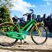 De groengele stadsfiets