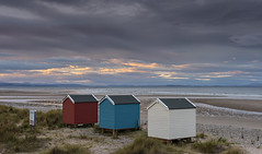 Three Beach Huts and a Big Sky (Geoff France) Tags: coast sea seaside beach beachhut landscape scottishlandscape moray moraycoast seascape findhorn