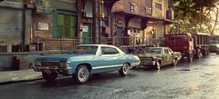 Warehouse Police (gpholtz) Tags: diorama miniatures 118 diecast impala 1967 chevrolet
