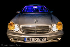 MERCEDES (juan carlos luna monfort) Tags: coche car masina rumania romania tileagd noche night lightpainting flash tripode nikond7200 irix15 largaexposicion calma paz tranquilidad