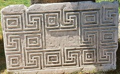 geometric ornament patterns includes varied animal figures, Milas Museum. (ancient pix) Tags: ancient history ancienthistory photo photography culture art arts archaeology archeology