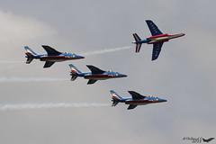 Alpha Jet E F-UHRE 1 E44 F-TETF 2  E45 F-UHRT F-UGFF 3 E85 E152 4 Nancy juin 2018 (Thibaud.S.) Tags: alpha jet e fuhre 1 e44 ftetf 2 e45 fuhrt fugff 3 e85 e152 4 nancy juin 2018 patrouilledefrance