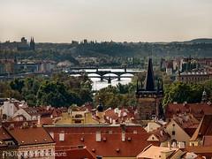 VLTAVA RIVER FROM THE CASTLE (PHOTOGRAPHY|bydamanti) Tags: prague czechrepublic cz bridges vltavariver river europe iphonex