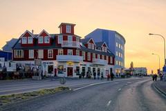 Sunset Glow (BlinkOfALens) Tags: reykjavík iceland is sunset building cityscape orange
