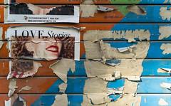 Métallique. (Adrien GOGOIS) Tags: sony e pz 18105mm f4 g oss still life flyer affiche smile girl woman poster color close focus tear déchiré torn af mount zoom a6000 street rue light city