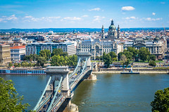 A look over the Danube River in Budapest
