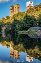 Cathedral Reflections (robinta) Tags: river riverwear water reflection reflections durham england ngc mirror architecture cathedral church gothic landmark historic colour colors building canon 200d sigma sigma1770