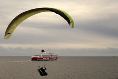 """""""Wait,,,I`m coming.... (irio.jyske) Tags: boat cruisingship ship carferry gliding paragliding man male sea water fly glide wind autumn landscapes lanscape landscape landscapephotos landscapephotographer lakescape landscapepics landscapepic landscapephotograph photographer photos photograph pic nice"""