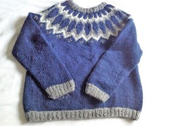 Icelandic wool lopi sweater (Mytwist) Tags: vtg ladies unbranded cream black grey wool mix nordic style jumper ullar ski love itch icelandic original iceland navy blue fair isle loulouthemac1