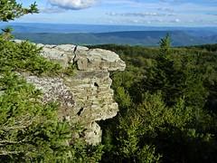 Bear Rocks (kegrose) Tags: nature mountains mountaintop summit westvirginia rocks trees sky forest woods