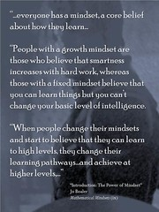 """Educational Postcard: When people change their mindsets and start to believe that they can learn to high levels, they change their learning pathways…and achieve at higher levels…"""" (Ken Whytock) Tags: mindset growth growthmindset corebelief belief people fixedmindset smartness intelligence pathways"""