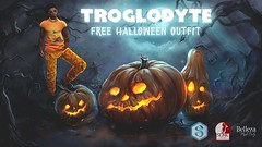 TROGLODYTE - FREEBIE Halloween Outfit (TROGLODYTEsl) Tags: halloween outfit troglodyte pumpkin orange tshirt sweatpants mesh body signature gianni belleza jake slink physique secondlife