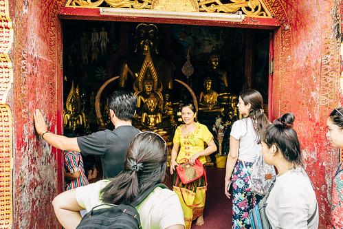 Temple entrance, Doi Suthep.  Chiang Mai, Thailand