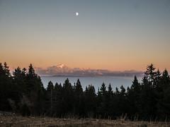 sunset over the Mont Blanc (Lanceflot) Tags: mountain landscape mont blanc snow sky sunset sunrise tree nature wild hiking tramping walk