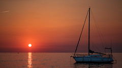 __*__-I-_ (St1908) Tags: urlaub kroatien croatia sea ozean meer holiday boot schiff sonnenuntrgang sundown farben colors orange rot red fujifilm fuji xt2 sonnenuntergang himmel wasser