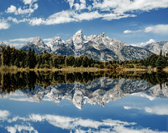 Schwabachers Landing (Mike_Mulcahy) Tags: mountains colour color wyoming schwabacherslanding nationalpark park mirror reflection fujifilm fuji xt2 polariser 1855mm sun 500px
