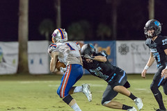"PVHS v. Bolles '18-351 (mark.calvin33) Tags: football field sport ball ""high school"" ""ponte vedra high pvhs block tackle rush run pass catch receiver blocker ""running back"" quarterback fumble completion reception hike pitch snap ""friday night lights"" fans stands kick ""end zone"" ""nikon d7100"" 2018 win athletics athletes ""night photography"" ""sharks football"""