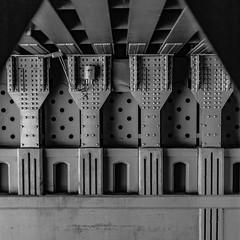 (el zopilote) Tags: 700 600 500 albuquerque newmexico architecture street cityscape bridges powerlines signs canon eos 5dmarkii canonef50mmf14usm fullframe bw bn nb blancoynegro blackwhite noiretblanc digitalbw bndigital schwarzweiss monochrome