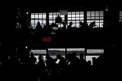 Bar in Pike Place Market, Seattle, Washington (TomCollins) Tags: bar seattle pikeplacemarket blackandwhite bw