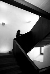(cherco) Tags: alone lonely woman girl stairs blancoynegro blackandwhite monochrome architecture arquitectura up silhouette silueta canoneos5diii canon city light shadow window urban aloner movimiento