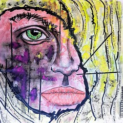 Carole (franck.sastre) Tags: art streetart popart painting skin eyes lips face picture colors