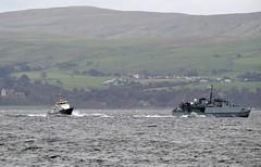 HMS Grimsby & Smit Yare (Zak355) Tags: rothesay isleofbute bute scotland royalnavy naval ship boat vessel exercise minesweeper minehunter jets smityare hmsgrimsby hmscattistock riverclyde