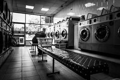 IMG_1100473 (Kathi Huidobro) Tags: chores londonlife urbanism interiordesign launderette laundromat laundry solitude candid washday urbanscene blackwhite bw monochrome london
