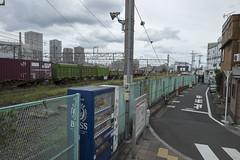 Tokyo.荒川区南千住 隅田川駅 (iwagami.t) Tags: 201809 fujifilm fuji xt1 xf14mm japan tokyo city town urban street train station clouds