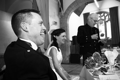 Who say's the father in law isn't funny?! (captures.in.time) Tags: wedding celebration drinks flowers speaches friends family weddings weddingphotography crail fife scotland father bride groom laughter candid