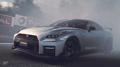 Nissan GT-R Nismo (Matze H.) Tags: nissan gtr gt sport nismo playstation 4 pro ingame screenshot wallpaper 4k uhd hdr smoke drift race track