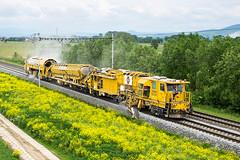 BDS-2000 + MFS 100, Lukavice - Mohelnice, 16.05.2018 (miroslav.volek) Tags: swietelsky plasser theurer ballast management system for tracks turnouts distribution bds