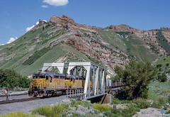 UP 806 West at Devils Slide, UT (thechief500) Tags: overlandroute railroads up